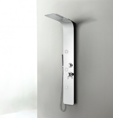 Shower Panel Venus - Black Back Panel