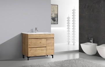 "40"" Rock - Wood Texture - Single Sink Bathroom Vanity- New Arrival"