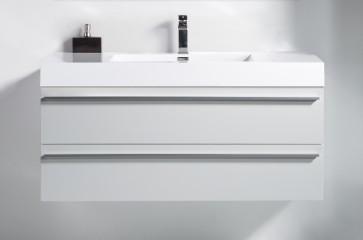 "48"" Sofia - Lily White - Single Sink Wall-Hung Bathroom Vanity"