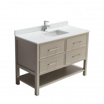 "48"" Fiory - Double Sink Bathroom Vanity - Beige"