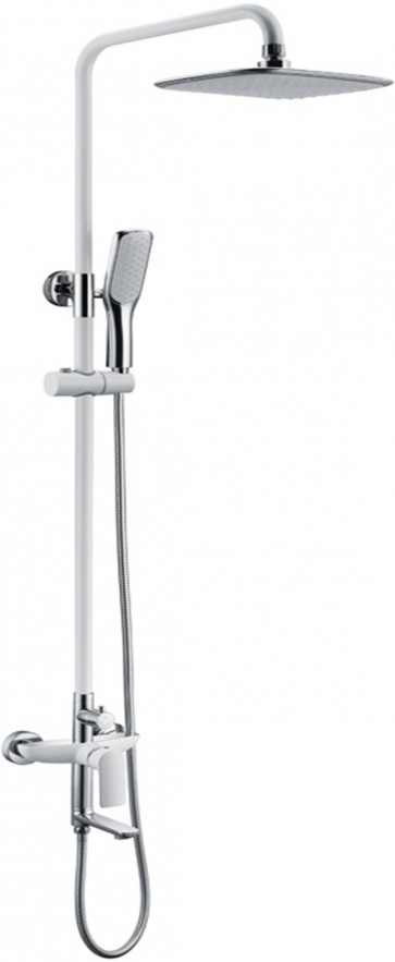 Shower Column Florence - White and Chrome