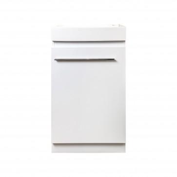 "18"" La Petite - Lily White - Single Sink Wall-Hung Bathroom Vanity"