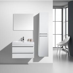 "30"" Sofia - White - Single Sink Wall-Hung Bathroom Vanity"