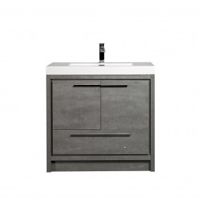 "36"" Allier - Ciment Grey - Single Sink Bathroom Vanity - Coming Soon"