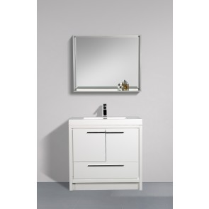 "36"" Allier - White - Single Sink Bathroom Vanity"
