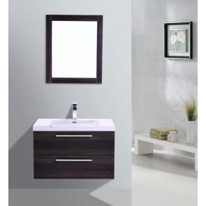 "30"" Eclipse - Single Sink Wall-Hung Bathroom Vanity - Distressed Oak"
