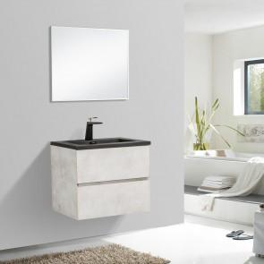 """24"""" Edge - Grey - Single Sink Wall-Hung Bathroom Vanity"""