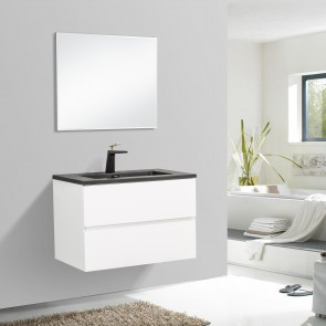 "30"" Edge - White - Single Sink Wall-Hung Bathroom Vanity"