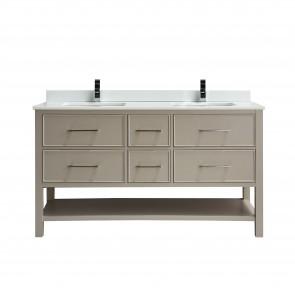 """60"""" Fiory - Double Sink Bathroom Vanity - Beige - Coming Soon"""