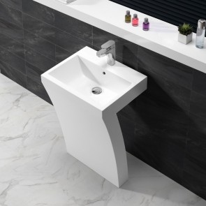 "23"" 7-Shape - White - Freestanding Bathroom Vanity - Coming Soon"