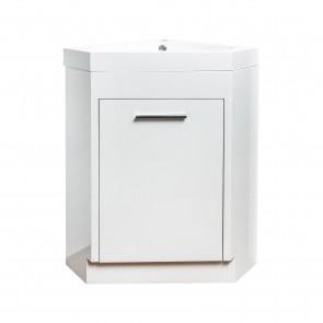 "18"" La Petite Bathroom Vanity - Corner White"