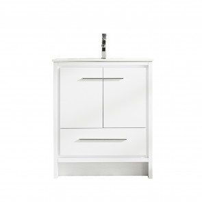 "30"" Melanie - White - Single Sink Bathroom Vanity"