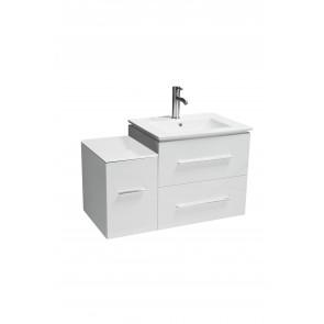 "12"" Jacob Middle Cabinet White - Modular Wall-Hung Bathroom Vanity"