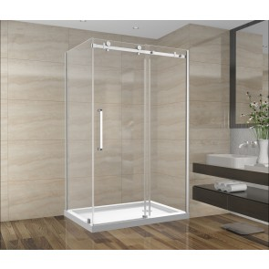 "Shower Set 48inch - Square Style - 2 wall setup without base (48"" x 36"")"