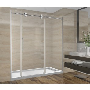 Shower Set 72inch - Round Style - 3 wall setup without base