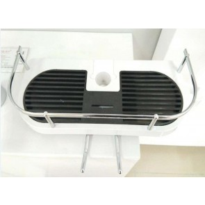 Shower Soap Basket White and Chrome