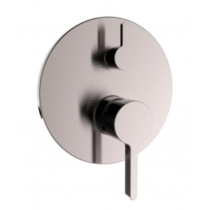Shower Mixer Brushed Nickel - 3-Function Round with Pressure Balance