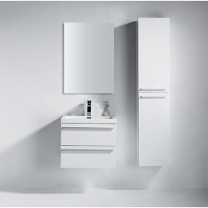 "24"" Sofia - Lily White - Single Sink Wall-Hung Bathroom Vanity"