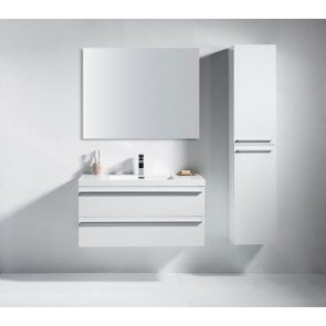 "42"" Sofia - Lily White - Single Sink Wall-Hung Bathroom Vanity"