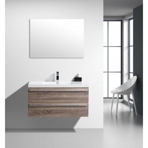 "42"" Sofia - Soft Oak - Single Sink Wall-Hung Bathroom Vanity"