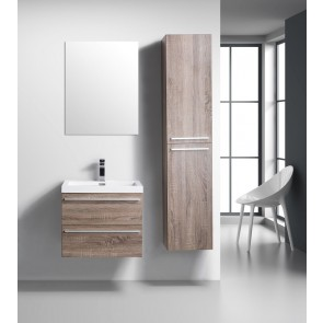 "24"" Sofia - Soft Oak - Single Sink Wall-Hung Bathroom Vanity - Sold Out - Coming Soon"