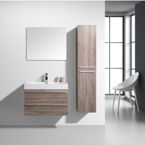 "30"" Sofia - Soft Oak - Single Sink Wall-Hung Bathroom Vanity"