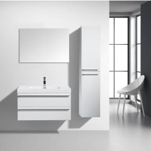"36"" Sofia - White - Single Sink Wall-Hung Bathroom Vanity"