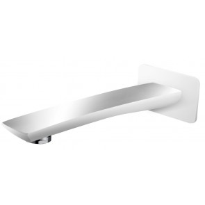 Shower Bath Spout White and Chrome - Square