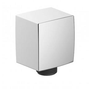 Coude de douche en chrome - carré