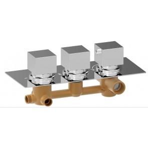 Mitigeur de douche avec 3 fonctions en chrome